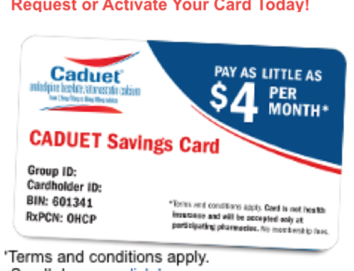 CADUET | Discount Savings Card | Coupon